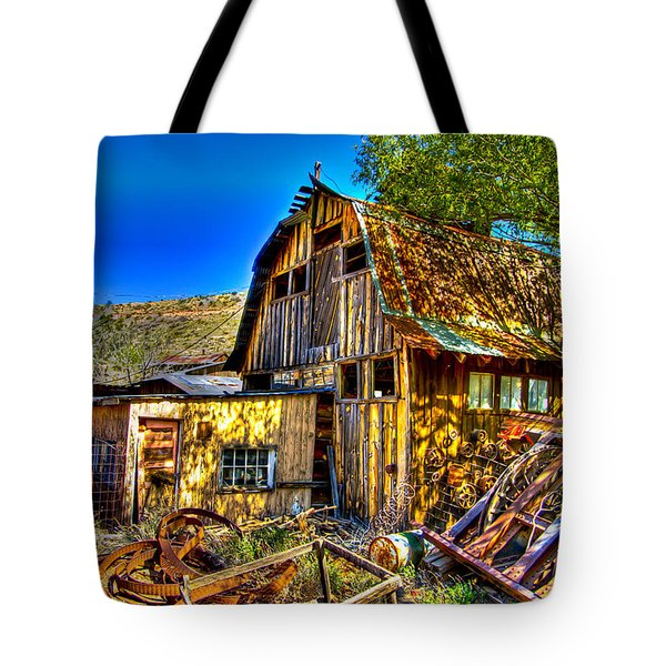 Old Shed Tote Bag by Jon Berghoff