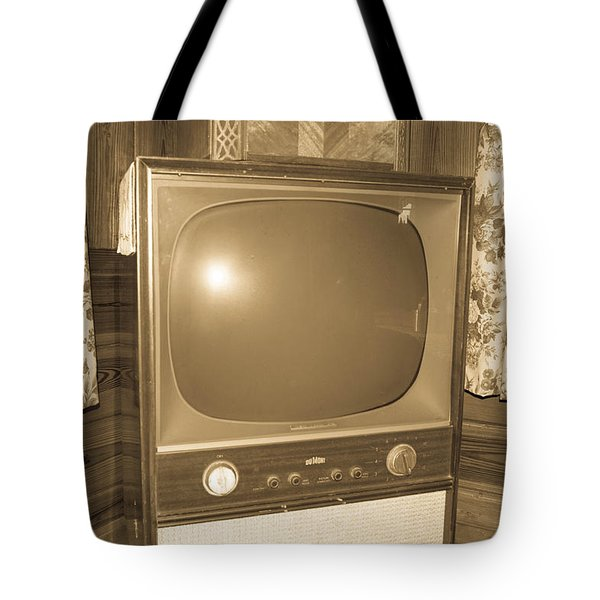 Old Television Tote Bag by Shannon Harrington