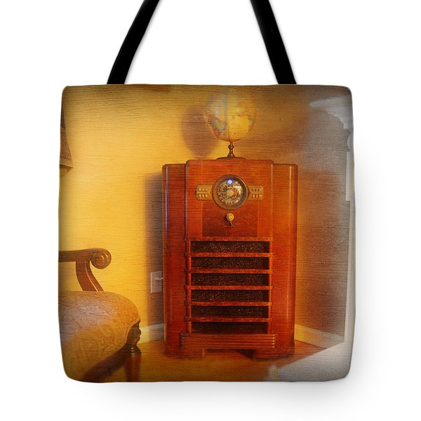 Old Time Radio Tote Bag by Paul Ward