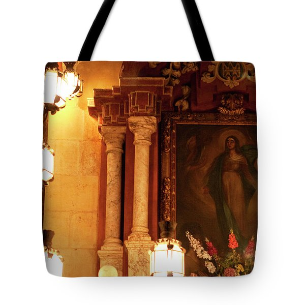 Tote Bag featuring the photograph Old Town Grotto by Lorraine Devon Wilke
