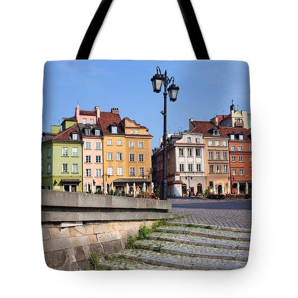 Old Town In Warsaw Tote Bag by Artur Bogacki