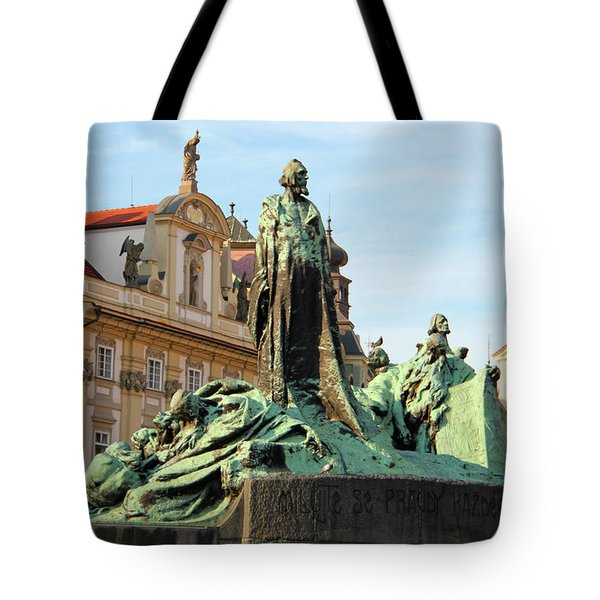 Old Town Square Tote Bag by Mariola Bitner