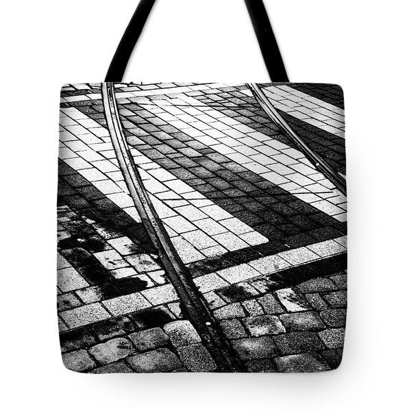 Old Tracks Made New Tote Bag by Hakon Soreide
