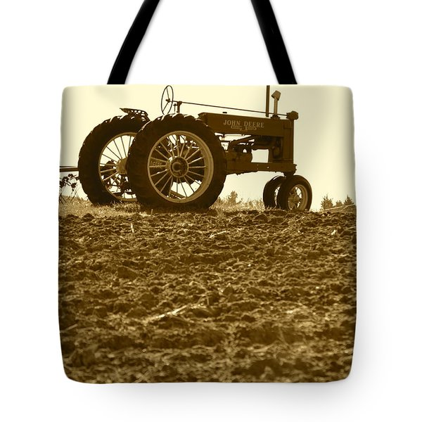 Old Tractor I In Sepia Tote Bag