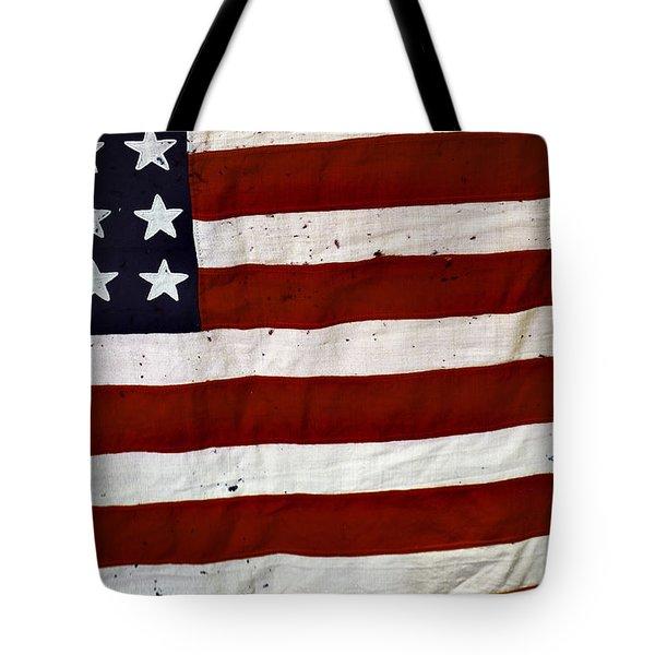 Old Usa Flag Tote Bag by Carlos Caetano