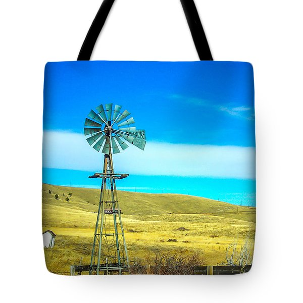 Tote Bag featuring the photograph Old Windmill by Shannon Harrington