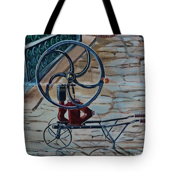 Old Wine Pump Tote Bag by Dany Lison