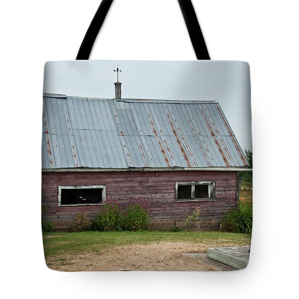 Tote Bag featuring the photograph Old Wood Shed  by Barbara McMahon