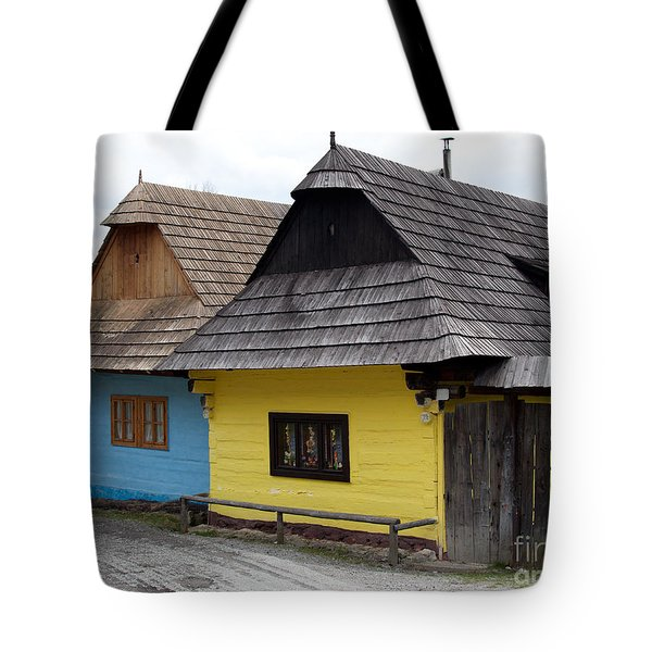 Tote Bag featuring the photograph Old Wooden Homes by Les Palenik