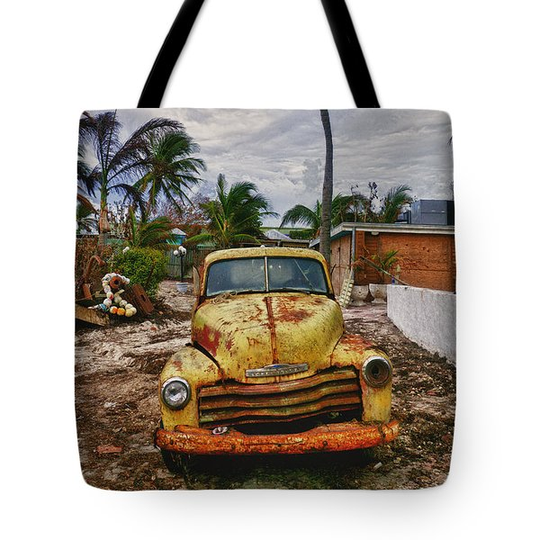 Old Yellow Truck Florida Tote Bag by Garry Gay