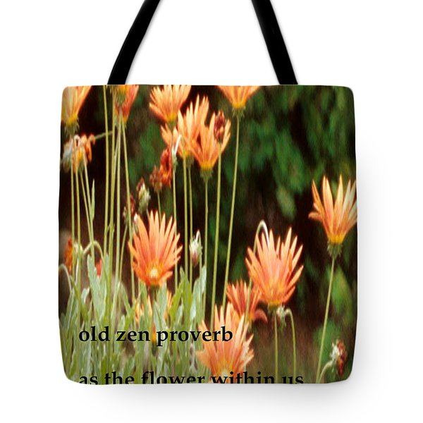 Old Zen Proverb Tote Bag by Richard Donin