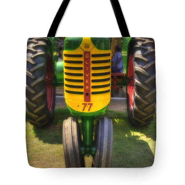 Tote Bag featuring the photograph Oliver Crop Row 77 by Trey Foerster