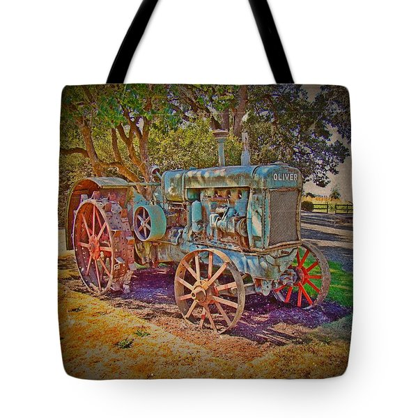 Oliver Tractor 2 Tote Bag by Nick Kloepping