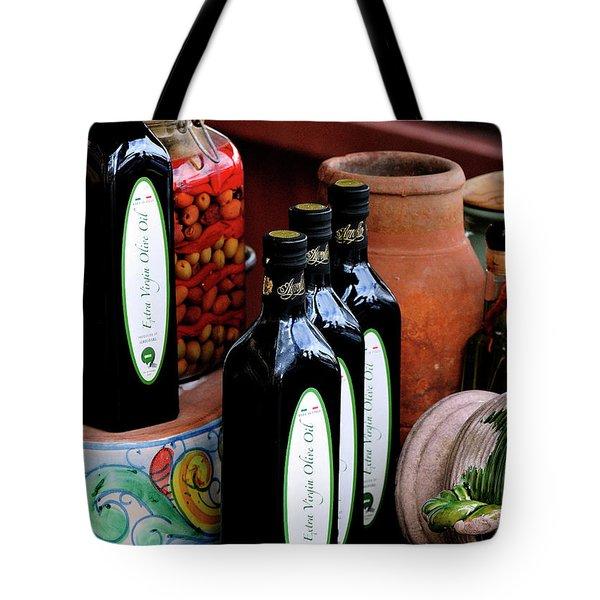 Olives And Olive Oil Tote Bag