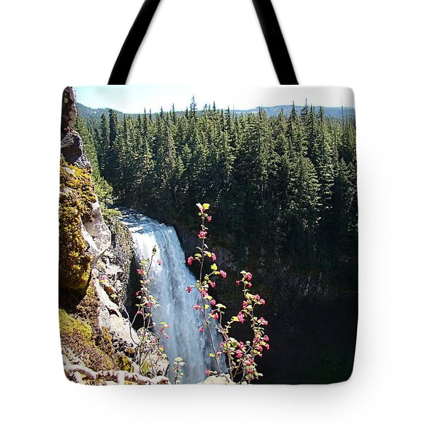 Tote Bag featuring the photograph On The Brink by Nick Kloepping
