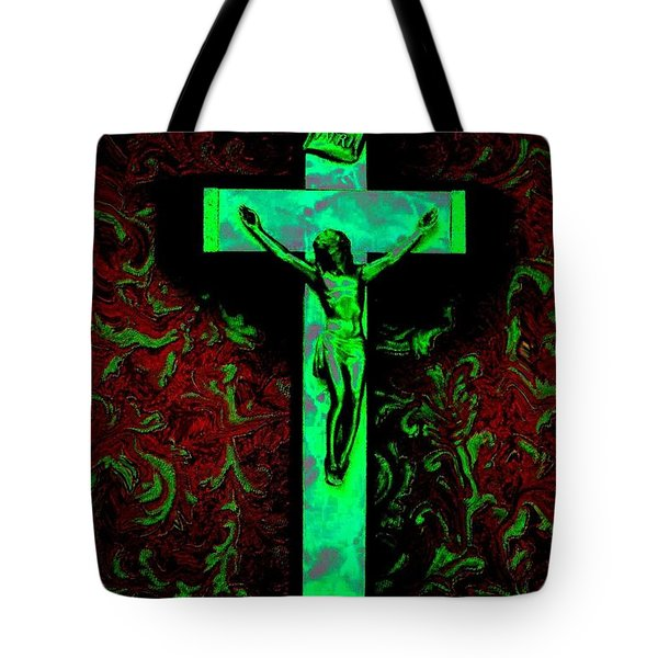 Tote Bag featuring the photograph On The Cross by David Pantuso