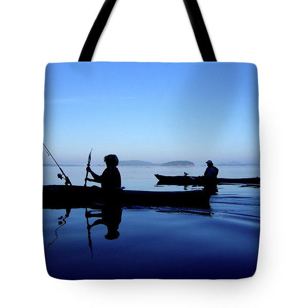 Tote Bag featuring the photograph On The Deep Blue Sea by Lorraine Devon Wilke
