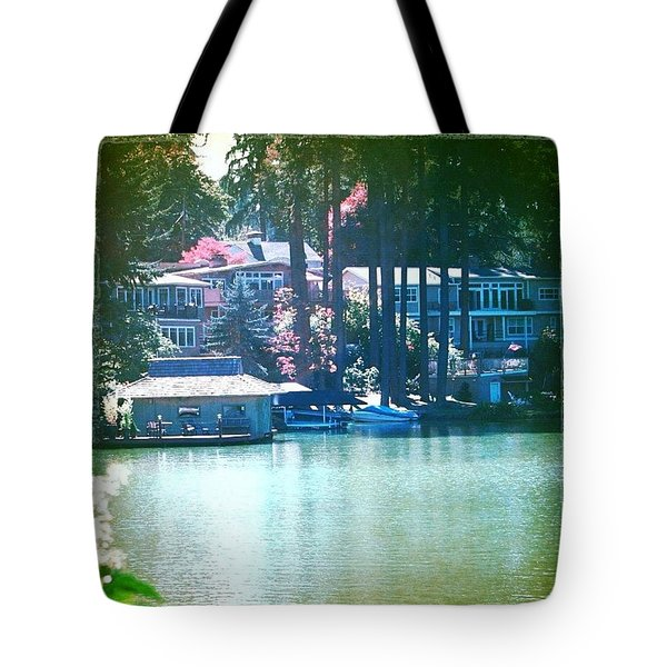 On The Lake - Lake Oswego Or Tote Bag