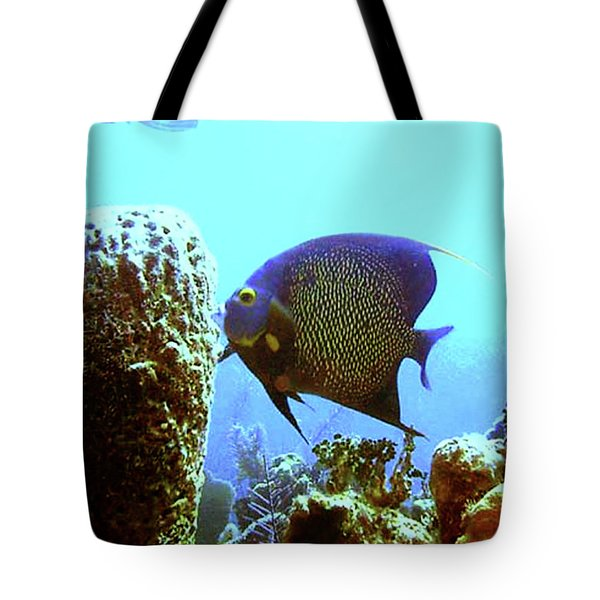 On The Reef Tote Bag by Barry Jones