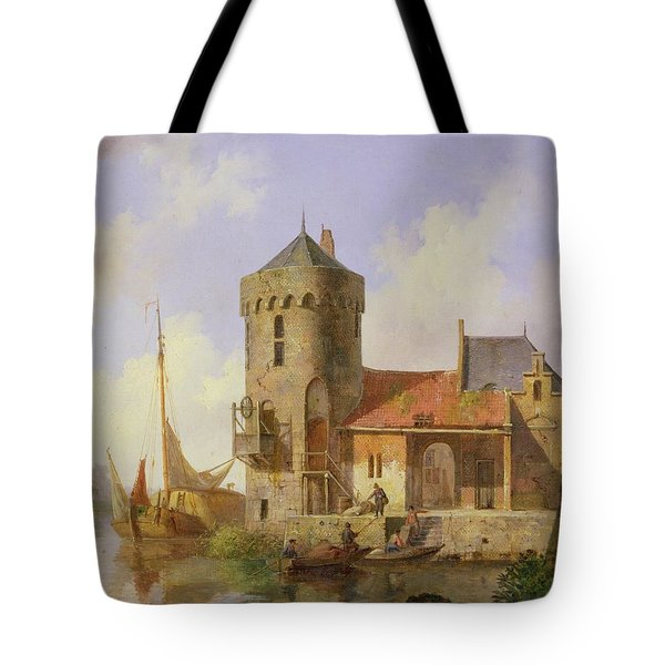 On The Rhine Tote Bag by Cornelius Springer