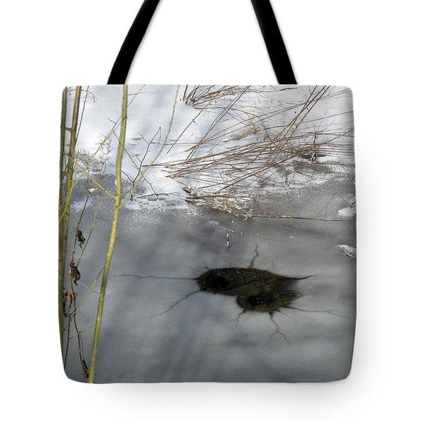 On The River. Heart In Ice 02 Tote Bag by Ausra Huntington nee Paulauskaite