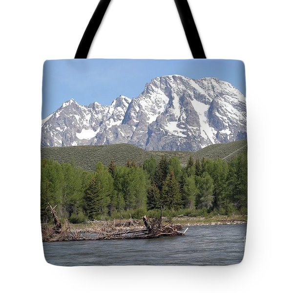 On The Snake River Tote Bag by Living Color Photography Lorraine Lynch