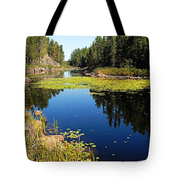 On The Way To East Lunch Lake Tote Bag by Larry Ricker