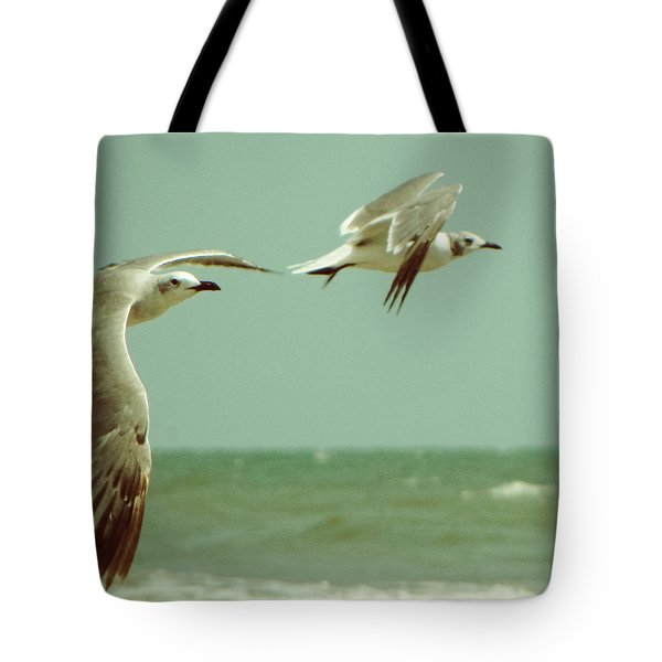 On The Wings Of A Seagull Tote Bag