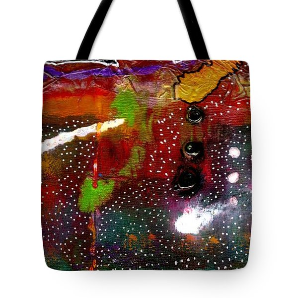 Once Upon A Snowy Night Tote Bag by Angela L Walker