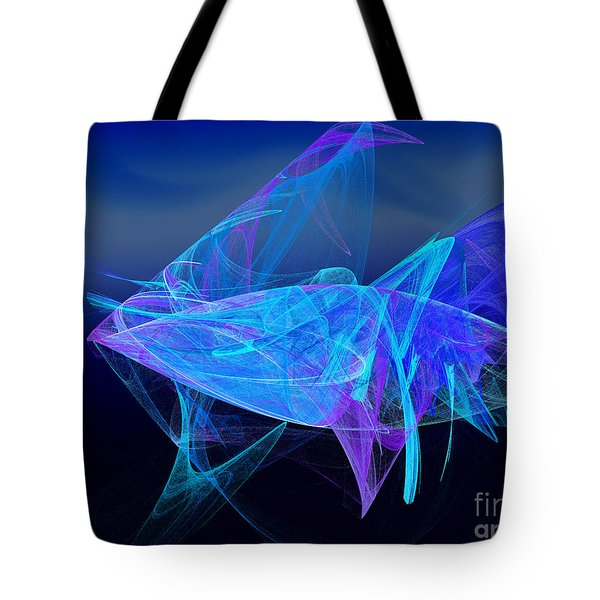 One Fish Blue Fish Tote Bag by Andee Design