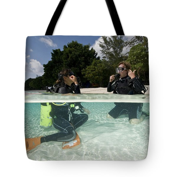 Open Water Student Diver, Mataking Tote Bag by Mathieu Meur