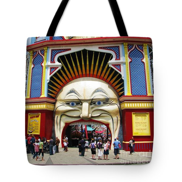 Tote Bag featuring the photograph Luna Park by Michele Penner