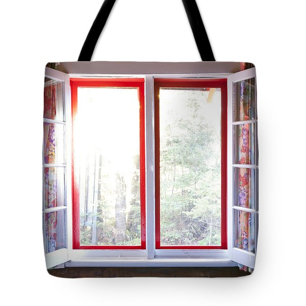 Open Window In Cottage Tote Bag