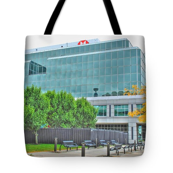 Tote Bag featuring the pyrography Opposing Trees Of Season by Michael Frank Jr