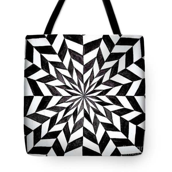 Opt Art 6 Tote Bag