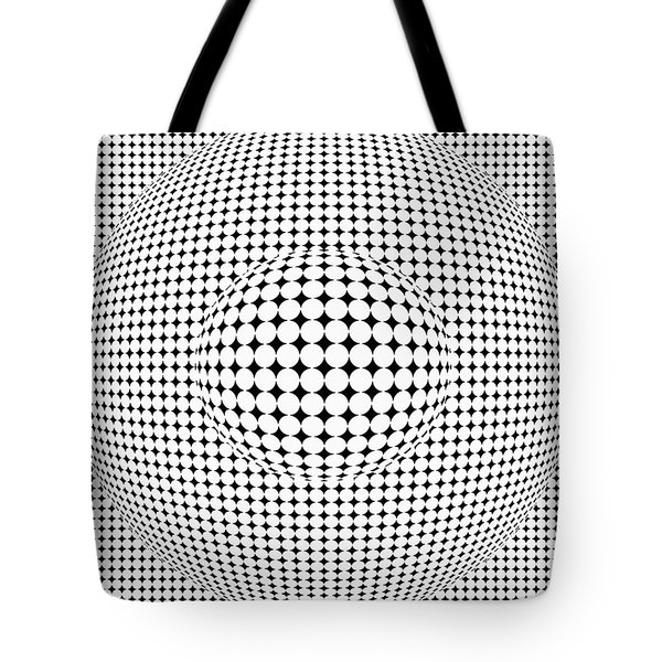 Optical Illusion Ball In Ball Tote Bag