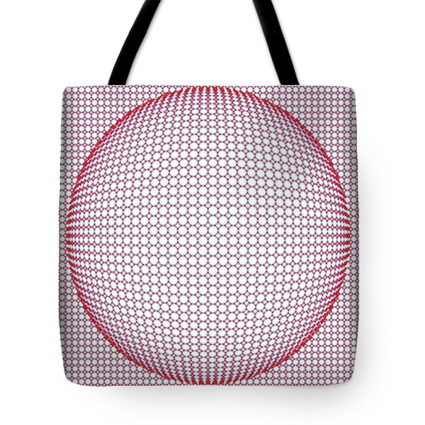 Optical Illusion Blue And Red Tote Bag