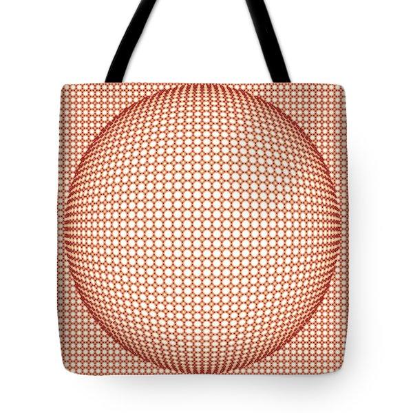 Optical Illusion Orange Ball Tote Bag by Sumit Mehndiratta
