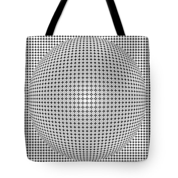 Optical Illusion Plastic Ball Tote Bag