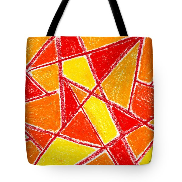 Orange Abstract Tote Bag by Hakon Soreide