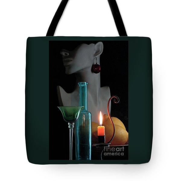 Orange Candle Tote Bag