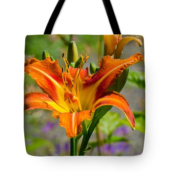 Tote Bag featuring the photograph Orange Day Lily by Tikvah's Hope