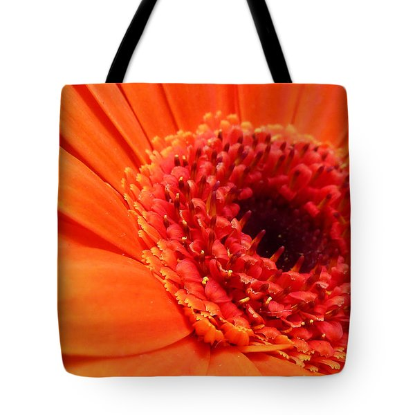 Orange Gerbera Close Up Tote Bag