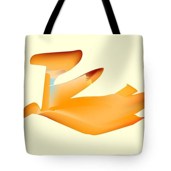 Orange Jetpack Penguin Tote Bag