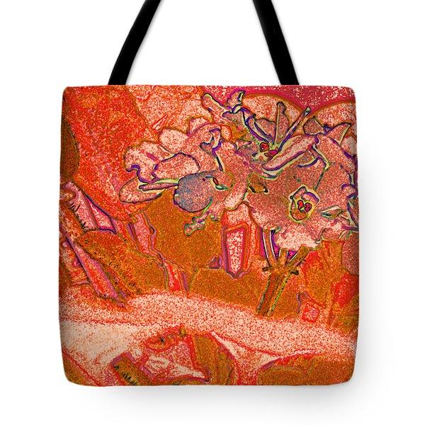 Orange Joy Tote Bag by First Star Art