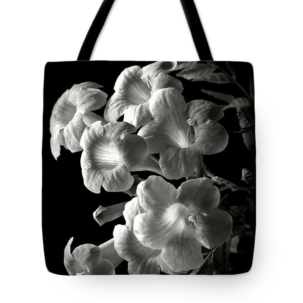 Orange Jubilee In Black And White Tote Bag