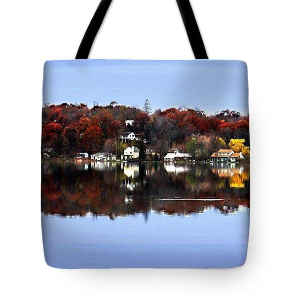 Orange Lake Tote Bag by Dale   Ford