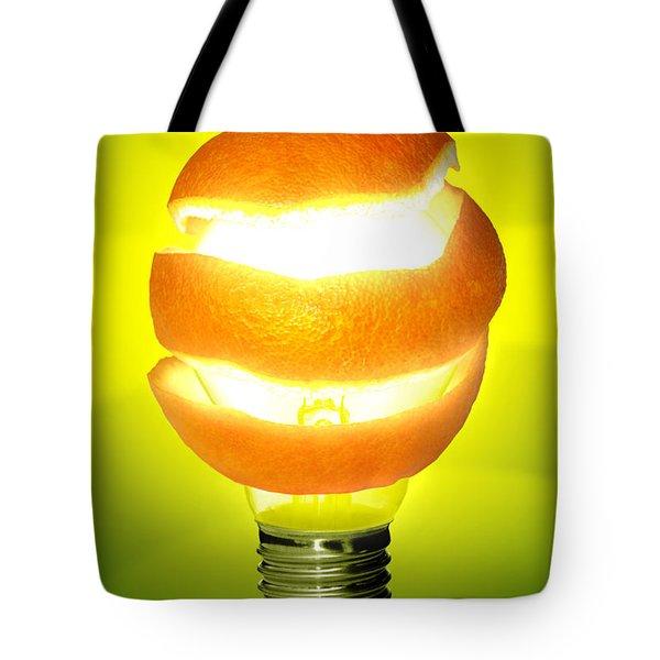 Orange Lamp Tote Bag by Carlos Caetano