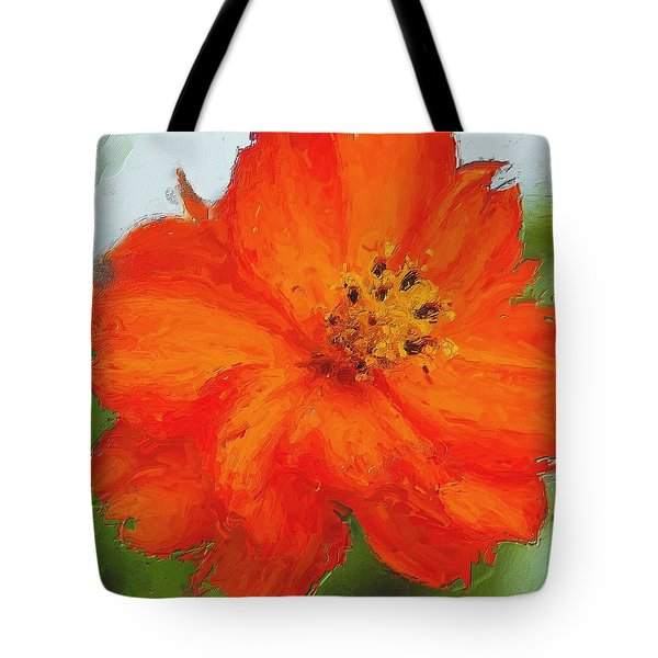 Tote Bag featuring the painting Orange by Michelle Joseph-Long