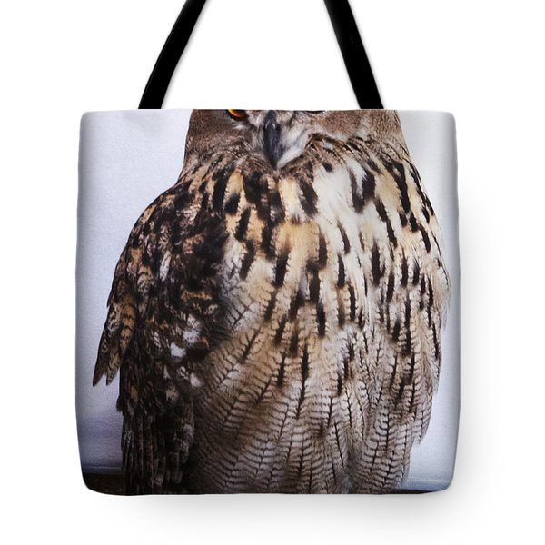 Orange Owl Eyes Tote Bag